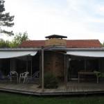 toile de terrasse sur jardin voiles occasions abri exterieur